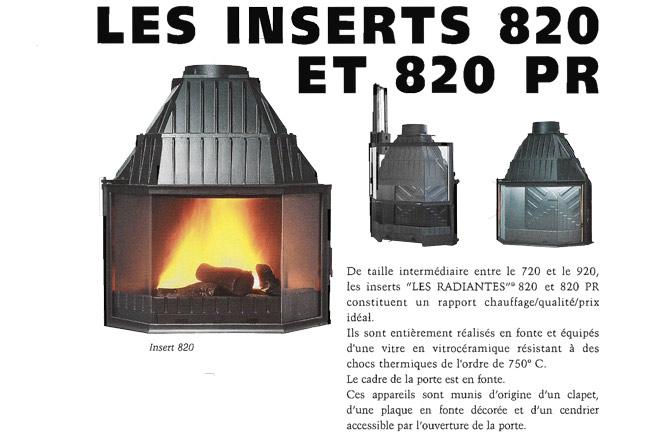 inserts 820 et 820 pr. Black Bedroom Furniture Sets. Home Design Ideas