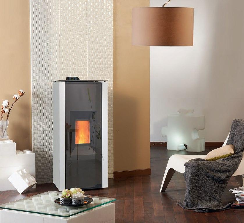 poele a granule design suspendu pole granuls en acier en. Black Bedroom Furniture Sets. Home Design Ideas