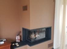 Cheminée cadre granit ép. 3 cm avec foyer 873-2V