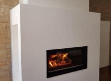 Cheminée LUSSAC cadre en acier avec foyer 1200
